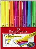 Faber-Castell A.W. 158131 - Textmarker Textliner 38, 8er Etui, sortiert