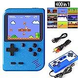 ETPARK Handheld Spielkonsole, 400 Klassische Spielen 2.8-Zoll-LCD-Bildschirm tragbare...