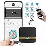 RFTHRT 720p HD Video Door Phone, Wireless Video Doorbell Two-Way Speaking Short Video...