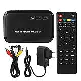 BTIHCEUOT Media Player, 1080P HDMI Mini-TV-Box für Video-Player VGA AV Video 100-240V(EU-Stecker)