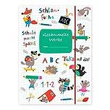 Sammelmappe für Kinder A4, Ordnungsmappe für Schule oder Kindergarten zum Aufbewahren von...