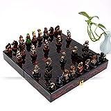 YANYAN Schachspiel Holztisch Schach Chinesisches Schach Spiele Resin Folding Chessman Weihnachten...
