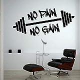 Keine Schmerzen Kein Gewinn Gewichtheben Training Gym Wandtattoo Bodybuilding Sportunterricht Wand...