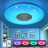 Kinderzimmer Deckenleuchte mit Bluetooth Lautsprecher Fernbedienung und APP-Steuerung Led 24W RGB...