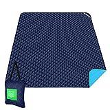 ISOPHO Outdoor-Picknickdecke Extra große wasserdichte Campingdecke mit Umhängetasche Bequeme...