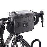 Fahrrad Lenkertasche,vordere Fahrradtasche mit Touchscreen,Fahrradtasche mit Netztasche,vordere...