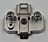 HKB  Kreuzmontageplatte, Zinkdruckguss, vern. Dist. 0mm, Intermat 900043021, für Topfscharnier m....