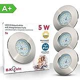 LED Badeinbaustrahler Ultra Flach Inkl. 3 x 5W LED Modul IP44 LED Einbauleuchte Bad Deckenspot Bad...