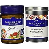 Schuhbecks Vegetarische Gemüsebrühe, 3er Pack (3 x 160 g) & Schuhbecks Zauberbrühe...