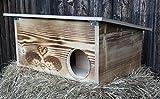 Geflammtes Premium Igelhaus 62cm x 40cm x 29cm Igelhotel 20mm Vollholz Winterfest Kein Bausatz:...