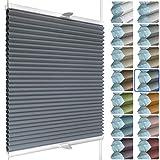 SchattenFreude Waben-Plissee für Fenster   100% verdunkelnd/Blackout   Mit Klemm-Haltern   Klemmfix...