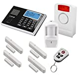 Olympia Protect 9061 Funk-Alarmanlage Super Set ✓ GSM Smat mit App✓ Kabellos ✓ Fenster & Tür...