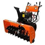 VANLAMP Schneefräse, Benzin Kleine Schneeschieber Maschine mit Reifenschnee und Beleuchtung für...