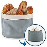 Brotkorb mit Deckel und Kordelzug Brotbeutel  25 cm Einfach zu Tragen Brtchenkorb 100%...