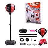 Eillybird Punchingball 80-110cm höhenverstellbar, Standboxball freistehend, Boxsack Set, Boxset,...
