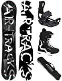 Airtracks Snowboard Set - Wide Board REFRACTIONS Game 159 - Softbindung Master - Softboots Savage...