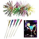 SSPECOTNR 120 Stück Deko Picker Bunt Sortier Feuerwerk Party Picks Cocktail Eisdeko Vulkan...