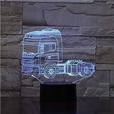 Wfmhra Super schwere LKW-Formen 3D-Nachtlicht 7 Farbwechsel Illusion LED-Lampe Touch-Schalter...