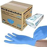 SFM ® SOFTLIGHTS Nitril : XS, S, M, L, XL blau puderfrei F-tex Einweghandschuhe Einmalhandschuhe...