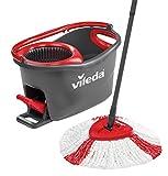 Vileda Turbo EasyWring und Clean Komplett Set, mit Kraftfaser-Wischmop und Rotationseimer mit...
