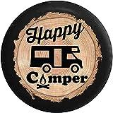 AllenPrint Wheel Tire Cover,Brennholz-Serie - Happy Camper Camp Fire Freizeitfahrzeug Wohnmobil...