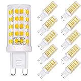 Albrillo 10er Pack 4.5W G9 LED Lampe 500 Lumen, Kein Flackern und 3000K Warmweiß G9 Leuchtmittel...