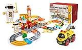 Train Set Spielzeug, Eisenbahn Set, Schienengleis Spielzeug Elektro-Auto-Spielzeug, 130 Stück,...