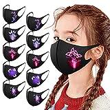 777 5/10 Stück Kinder Schmetterling Gedruckt Mundschutz mit Motiv Gesichtsschutz Mund-Nasen-Schutz...