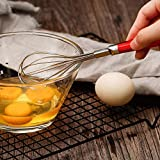 MKKSLR Hochwertiger Mini-Silikon-Eierschlger, 10-Draht-Edelstahl-Eierschlger, schneller Eierschlger...