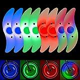 QKURT 8 x Speichenlichter (bunt, grün, rot, Bulex2), wasserdichte Radspeichenlichter, Felgenlicht,...