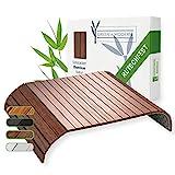 Green'n'Modern braunes Sofatablett aus Holz Bambus   Holztablett als Auflage Sofaauflage für Sofa...