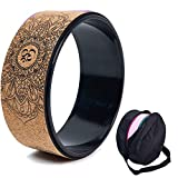 haxTON Cork Yoga Wheel, Natural and Comfortable Pilates Dharma Props to Improve Flexibility, Set...