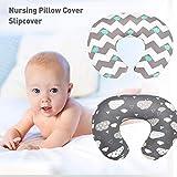 ZTT Babyernährung Pillowcase, 2 Packungen mit Elastic U-förmig Multifunktionale Stillkissen...