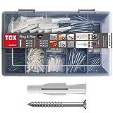 TOX Sortimentskoffer Plug und Play, 320 tlg. mit Allzweckdübel Trika 5x31 mm, 6x36 mm, 8x51 mm +...