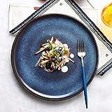 Kreative Farbverlauf Blau Keramik Mahlzeit Teller - 11 Zoll Suppenteller Japanische Stil Obst...