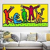 baodanla Rahmenlose ölgemälde Leinwand Ng Keith Haring Abstrakte Pop Art Wandbilder Für...