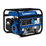 EBERTH 1000 Watt Benzin Stromerzeuger (3 PS Benzinmotor, 4-Takt, luftgekühlt, Ölmangelsicherung,...