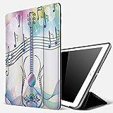 Qinniii iPad 5./6. Generation Hülle, iPad 9.7 2018/2017 Hülle,Musik Abstrakter Bildhintergrund mit...