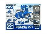 Parkhaus Parkgarage Polizei mit Metall Autos