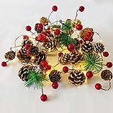 Weihnachtsgirlande mit Lichterkette, 20 Led Lichterkette Weihnachtsbaum, 2m Tannengirlande mit...