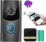Wireless Video-Türklingel, Cloud Storage Smart-Türklingel mit Chime, 720P HD WiFi...