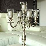 Dekowelten 5 x Teelichthalter aus Glas Gastro Version PL/Glasaufsatz für Kerzenleuchter...