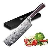 PAUDIN 17cm Chinesisches Messer Hackmesser Kochmesser aus hochwertigem Edelstahl, Küchenmesser mit...