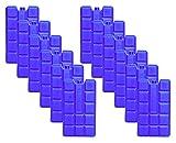 NEMT 12 Stück 400 ml Kühlakkus Kühlelemente für Kühltasche oder Kühlbox bis 20 h Kühlpack...