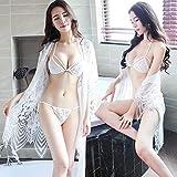 Gdofkh Sexy Dessous sexy Spitze transparent Boho-Stil Schlinge hohlen Pyjama Nachthemd