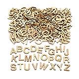 Baker Ross Mini-Großbuchstaben aus Holz (260 Stück) – für Kinder zum Basteln, Gestalten und...
