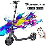 CITYSPORTS Elektroroller 8,5 Zoll, E-scooter Faltbarer Roller mit APP & Bluetooth, Akku 7,5 Ah...