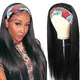 Headband wig Afro echthaar perücke schwarz frauen damen perücke schwarz lang glatt for black woman...