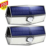 200 LED Solarlampen für außen【Neueste Version】LITOM Solarleuchten mit Bewegungsmelder,3...
