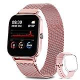 AIMIUVEI Smartwatch Damen, 1.4 Zoll Touch-Farbdisplay Fitness Tracker Wasserdicht IP67 Fitnessuhr...